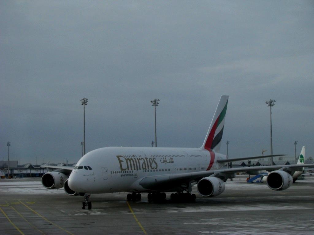 A380, Emirates & DXB airport, December 2012
