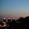 Нощна гледка от Бранков мост към Нови Белград