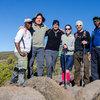 Аз и Бат Митко с водача ни Ален и приятели с които споделихме няколко дни в планината, Ана от Испания и Гюнтер от Германия