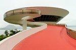 The Museum of Contemporary Art in Niteroi, Rio de Janeiro, Brazil.