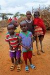 Kids in a Masai village. Selenkay Conservancy, Kenya.