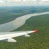 Iguazu River aerial shot