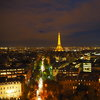 Tour Eiffel, изглед от Arc de Triomphe
