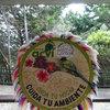 Декоративен кош от цветя (silleta) на входа на природния резерват Арви, Меделин.